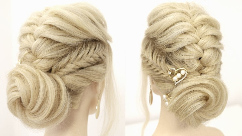 How To Easy Braided Updo For Long Hair Prom Wedding Hairstyles 2020