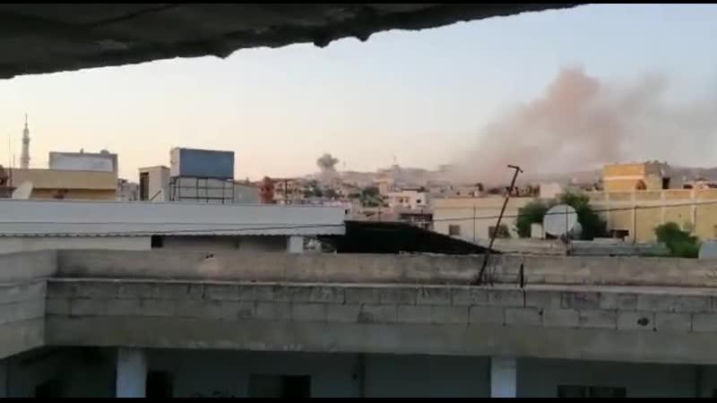 الان قصف صاروخي من قبل عصابات الاسد يستهدف بلدة البارة بجبل الزاوية جنوب ادلب