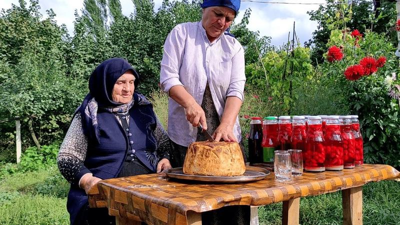 Şah Plovun və Zoğal Kompotun Hazırlanması ASMR food Outdoor Cooking