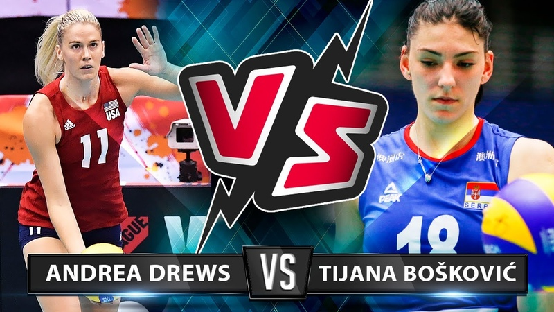 Andrea Drews vs Tijana Bošković Who s the BEST for you? VNL 2019
