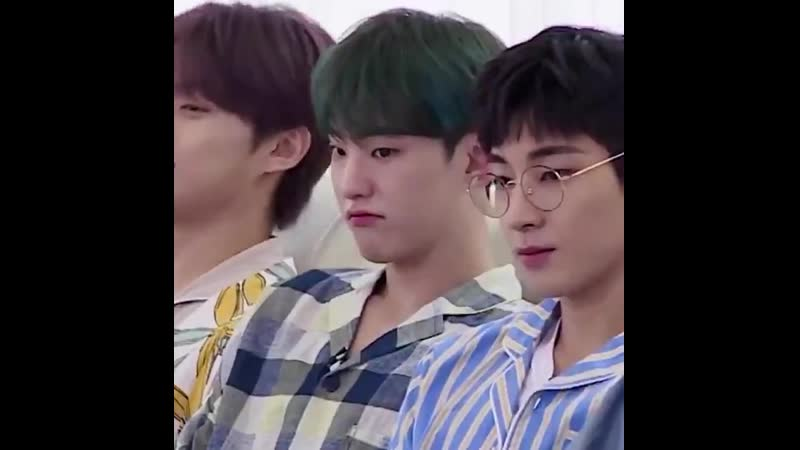Soonyoung's squishy cheekies and his cute little pout turning into a smile i am in pain