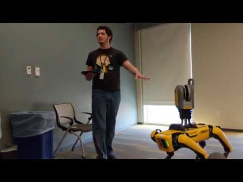 Boston Dynamics robotas su Trimble X7 skeneriu klausimai