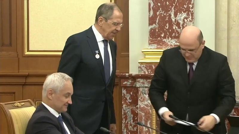 Мишустин наградил Лаврова медалью Столыпина Премьер министр Россия сегодня
