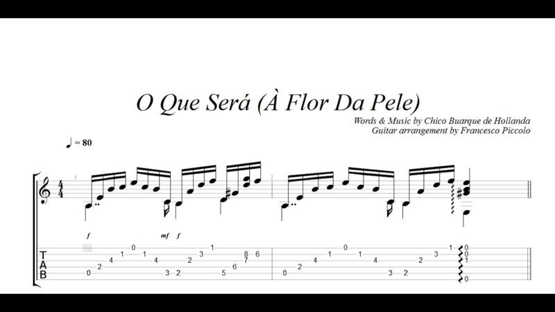 Fingerstyle Guitar O Que Será À Flor Da Pele From Bossa Nova Collection Nr 12