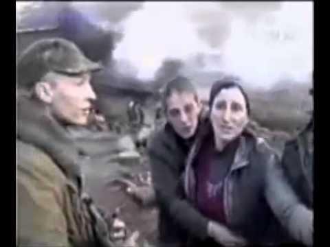 Запрещенное видео в России 18 Русские солдаты расстреливают чеченскую семью 1999