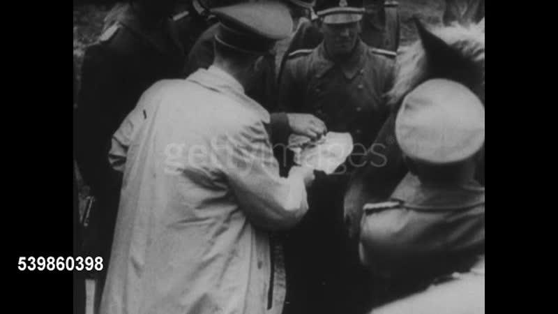 Adolf Hitler and German soldiers in Strasbourg France World War II