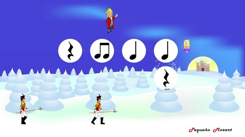 The Nutcracker Dance of the Sugar Plum Fairy Tchaikovsky Rhythm practice Lectura rítmica
