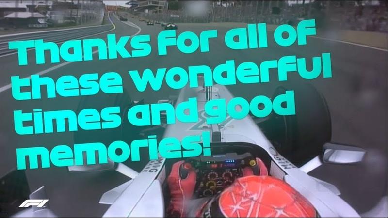 Michael Schumacher's F1 Farewell Message 2012 Brazilian Grand Prix