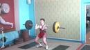 Штанько Семён, 14 лет, вк 62 Толчок 70 кг
