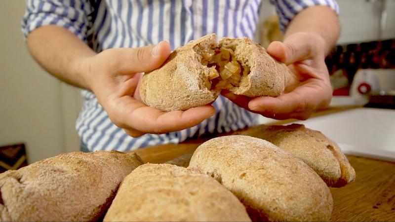 Лучшие Пирожки с капустой запеченные без масла и из цельнозерновой муки
