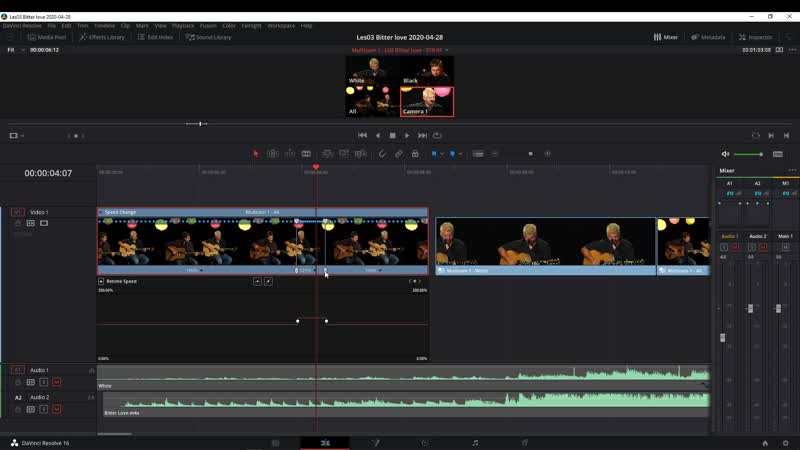 DaVinci Resolve Retime Speed