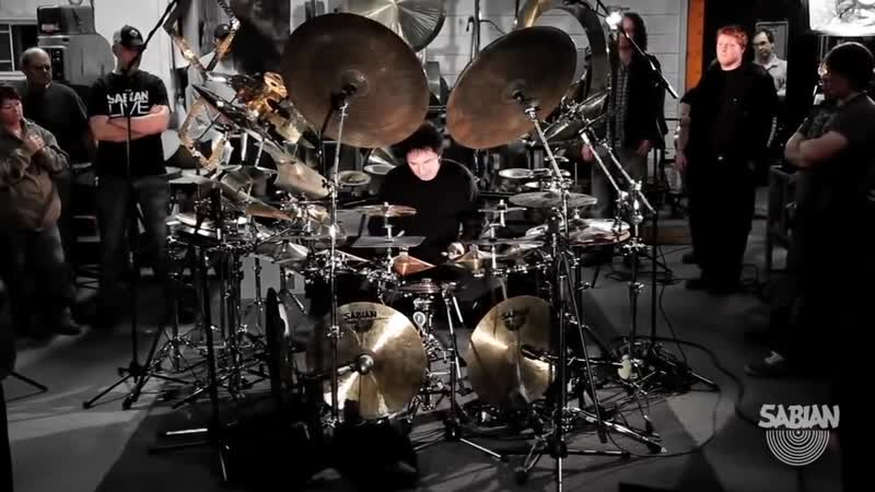 Terry Bozzio _All Cymbal Drum Set with SABIAN_