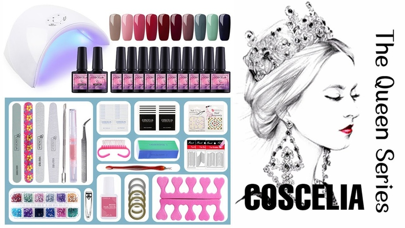 Best Low Priced GEL POLISH KIT| 10 piece gel polish kit| COSCELIA GELS| Shopify gels