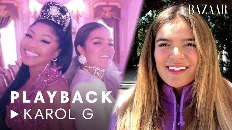 Karol G and Nicki Minaj's Tusa Music Video Breakdown Playback Harper's BAZAAR