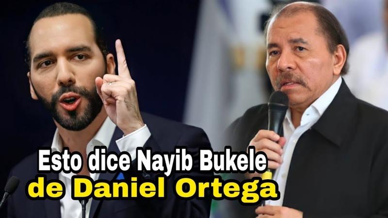 🔴Esto es lo que Nayib Bukele opina de Daniel Ortega y su régimen Vale la pena verlo