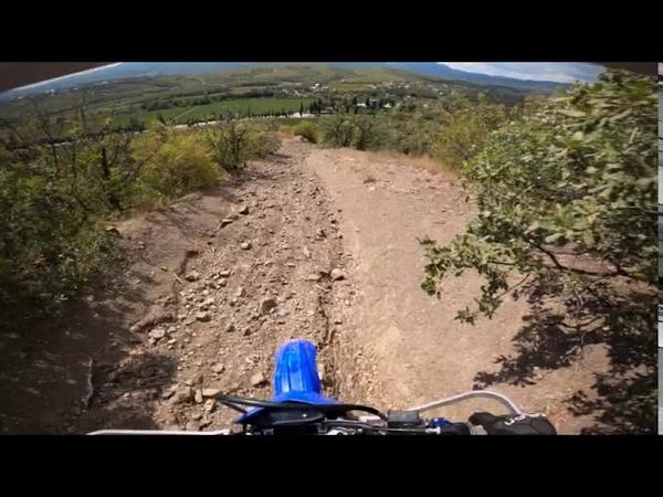 Путь на плато Чатыр Даг Ангар Бурун эндуро Yamaha TTR250