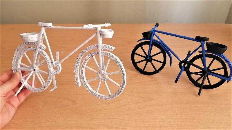 Kağıttan Bisiklet Nasıl Yapılır How to Make Paper Cycle Paper Crafts