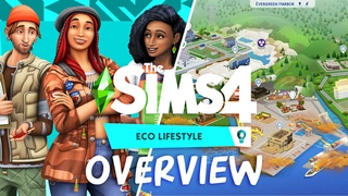 COMPLETE CREATE A SIM, BUILD/BUY AND WORLD OVERVIEW | The Sims 4: Eco LifeStyle