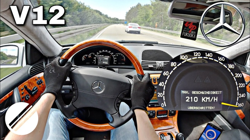 Mercedes Benz CL 600 BRABUS V12 C215 TOP SPEED DRIVE ON GERMAN AUTOBAHN 🏎