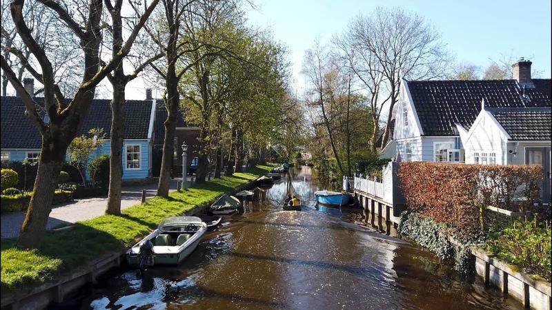 Morning walk in Broek in Waterland ☀️   Amsterdam Metro-Area   The Netherlands - 4K60