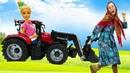 Игры в куклы Баба Маня и Барби. У Барби сломались машины! Видео про Барби и игрушки для девочек