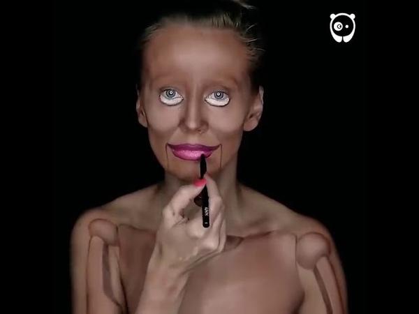 Опытный сербский визажист и ее проект деревянная кукла