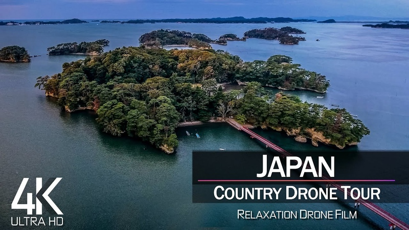 【4K】1 ¼ HOUR DRONE FILM «Japan» 🔥🔥🔥 Ultra HD 🎵 Chillout Music (for 2160p Ambient UHD TV)