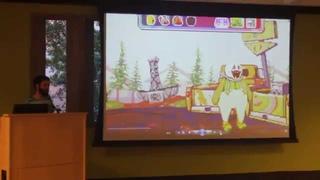 Jay Tholen presenting Dropsy at Indienomicon - Summer 2014