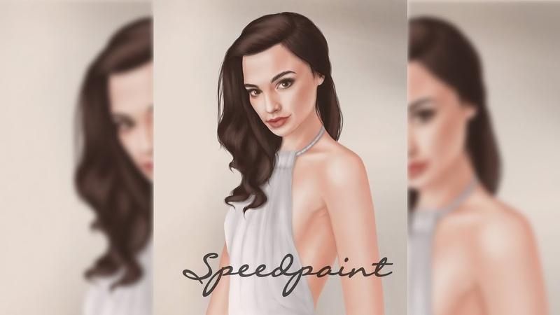 🎬 Speedpaint 🎬 Art actress ▸ Gal Gadot 💗 Спидпейнт популярной актрисы ▸ Галь Гадот by Helen Frost
