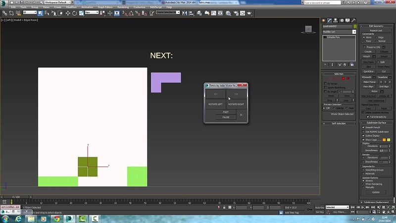 Tetris Game in 3D Max viewport by Joao Victor Ferreira