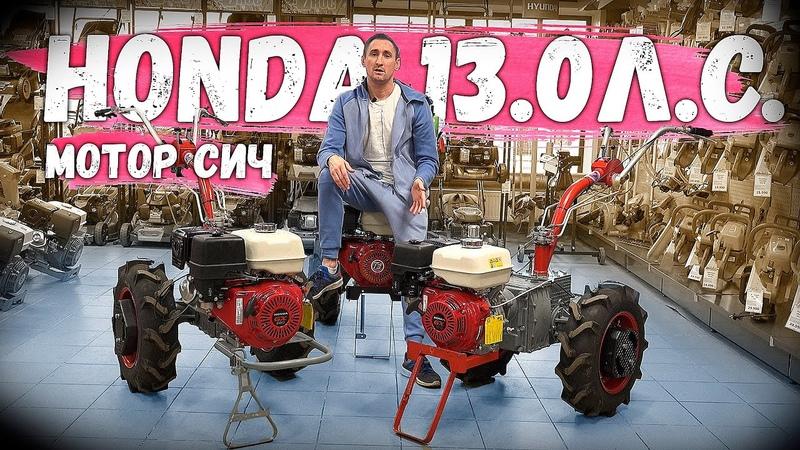 МЕГАНАДЕЖНЫЙ МОТОБЛОК = редуктор Мотор Сич двигатель Honda GX390 13 0 л с Лучше не бывает