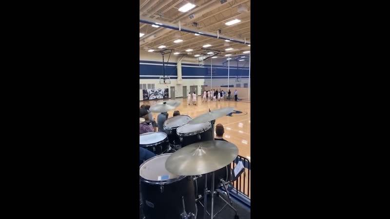 Guy plays drums