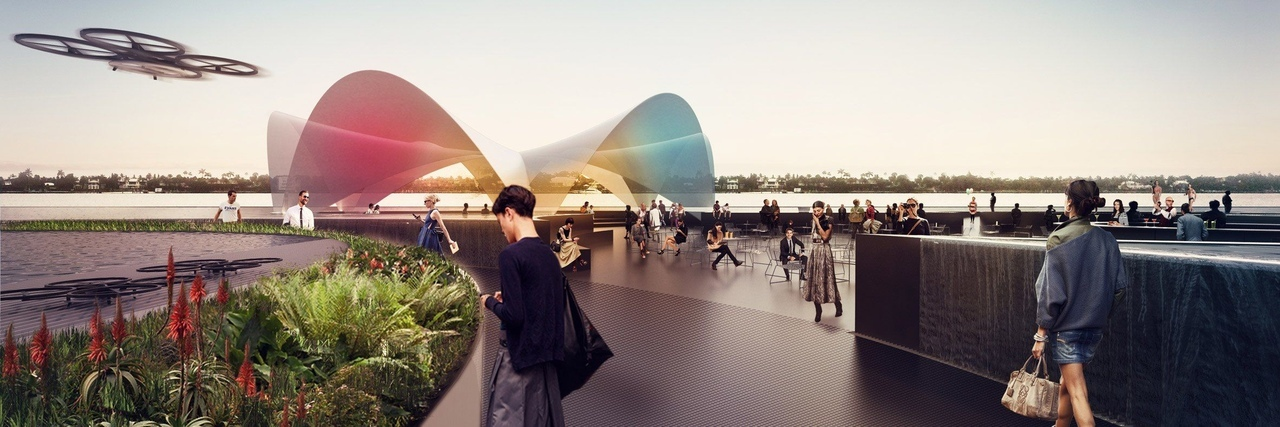 Carlo Ratti proposes floating plaza for Florida waterfront