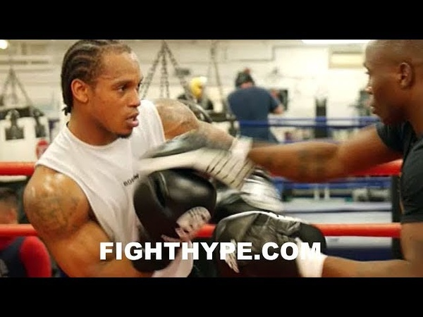 ANTHONY YARDE'S UNIQUE RHYTHMIC MITT ROUTINE HANDS FLYING EVERYWHERE