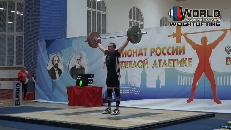 TREIER 96 М 95 101х 102 120 130 133 Russian Championships Masters 11 15 03 2020