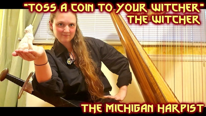 Toss a Coin to Your Witcher Harp Cover The Michigan Harpist