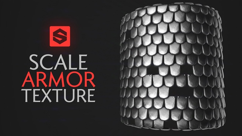 Stylised Steel Scale Armor Texture (Substance Designer) Procedural Game Texture Creation