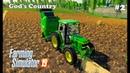 Farming Simulator 2019. God's Country. Bales of straw; grain harvesting. 2