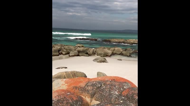 Залив Огней залив на северо восточном побережье Тасмании в Австралии