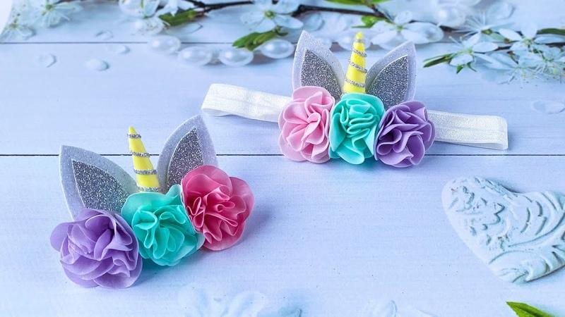 Повязка единорог Заколка единорожка Из Фоамирана для девочки Diy Unicorn Headband Foam Sheet Craft