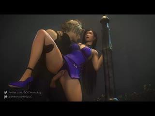 Tifa Lockhart x Cloud - vaginal fucked; 3D sex porno hentai; [Final Fantasy]