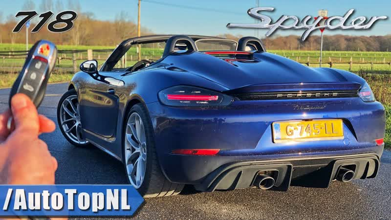 Porsche 718 Spyder GT4 Convertible REVIEW on AUTOBAHN NO SPEED LIMIT by AutoTopNL 2160p 60fps VP9 128kbit AAC