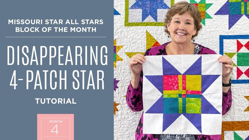 Month 4: All Stars Block Of The Month with Jenny Doan of Missouri Star Quilt Co (Video Tutorial)