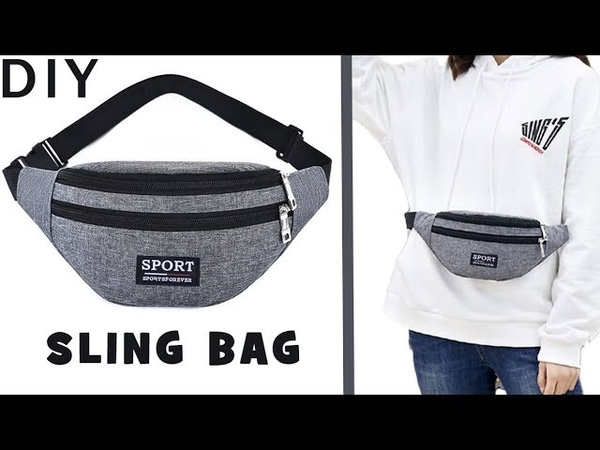 GRAY PURSE BAG WITH POCKET TUTORIAL Zipper Belt Free Hands Bag 20 Min