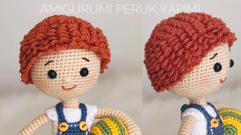 AMIGURUMI KOLAY PERUK YAPIMI (Easy Wig Tutorial) ENG SUBTITLES ON