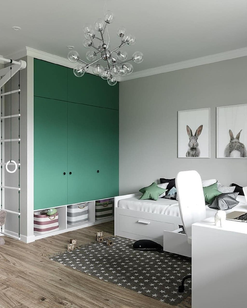 Отличный дизайн детской комнаты (автор s.design2a)