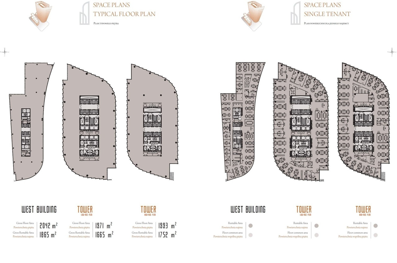 Новая варшавская башня в 41 этаж будет высотой 130 метров,и общей площадью 63,800 кв м