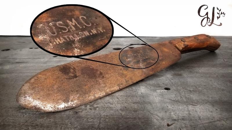 Rare WW2 USMC Medics Bolo Knife good