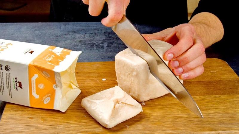 Нарезаем ряженку ножом Проще Шарлотки вкуснее Наполеона сразу 3 рецепта без возни с тестом