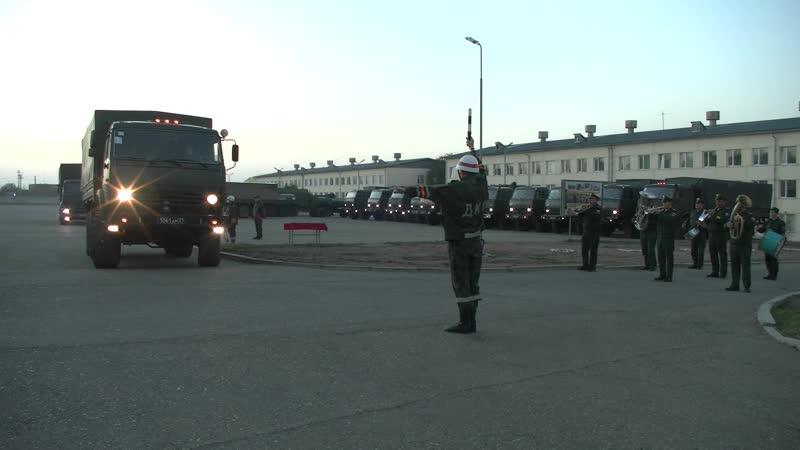 Убытие военно медицинских специалистов ЮВО в Абхазию для развертывания полевого госпиталя
